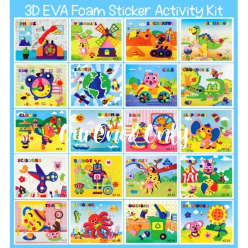 3D EVA Foam Sticker Activity Kit