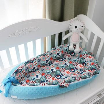 Nautical Hexagon Baby Nest