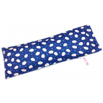 Blue Japanese Rabbit Cotton Minky Long Husk Pillow