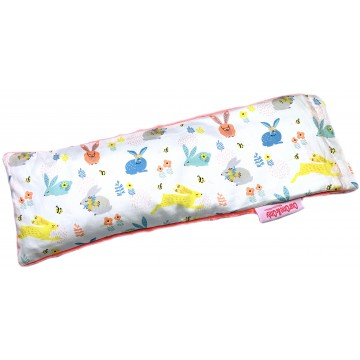Hopping Bunnies Cotton Minky Long Husk Pillow