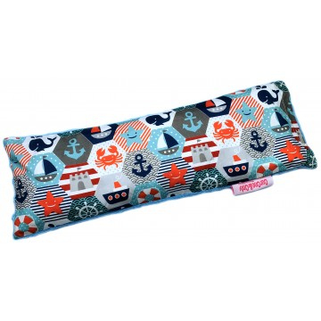 Nautical Hexagon Cotton Minky Long Husk Pillow