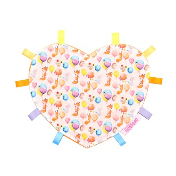 Let's Play Heart Cotton Minky Taggies
