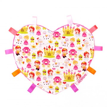 Princess And The Frog Heart Cotton Minky Taggies
