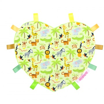 Safari Wildlife Heart Cotton Minky Taggies