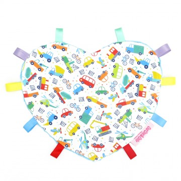 Transportation Heart Cotton Minky Taggies