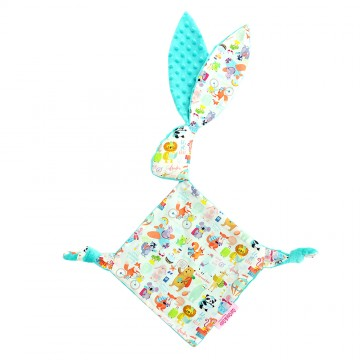 Holiday Time Cotton Minky Bunny Blankie