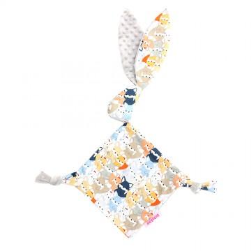 Sweetie Fox Cotton Minky Bunny Blankie