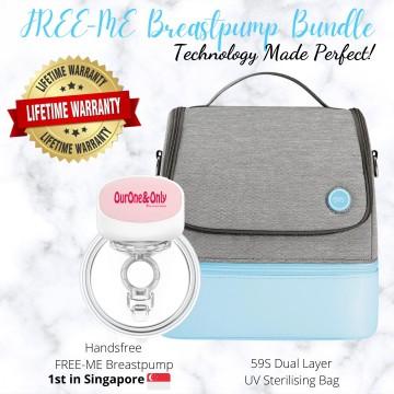 FREE-ME Wearable Breastpump x 59s UV Bag Bundle
