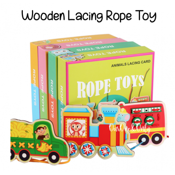 Wooden Lacing Rope Toy