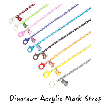 Dinosaur Acrylic Mask Strap