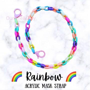 Rainbow Acrylic Mask Strap
