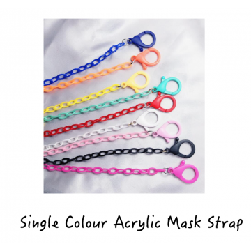 Single Colour Acrylic Mask Strap