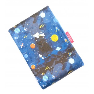 Galaxy Planets Full Minky Baby Blanket