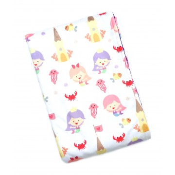 Little Mermaid at Beach Full Minky Baby Blanket