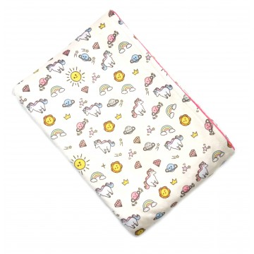 Sunshine Unicorn Full Minky Baby Blanket