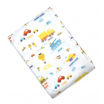 Travelling Transports Full Minky Baby Blanket