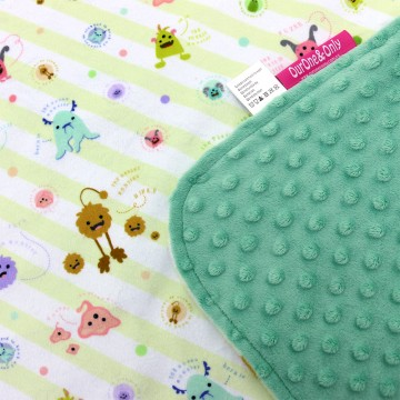 Friendly Monsters Full Minky Baby Blanket