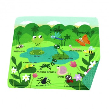 Insects World Full Minky Book Blanket