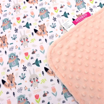 Scandinavian Animals Full Minky Baby Blanket