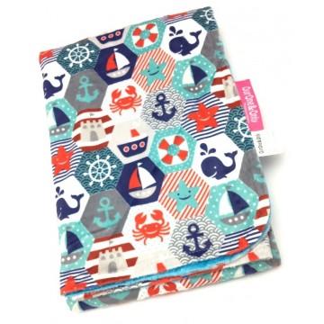 Nautical Hexagon Full Minky Toddler Blanket
