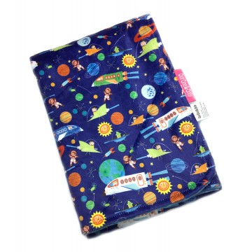 Outer Space Adventures Full Minky Baby Blanket