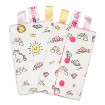 Sunshine Unicorn Minky Drool Pad