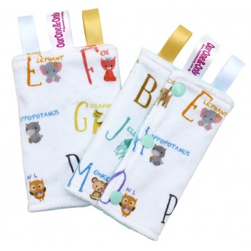 Alphabet Animals Minky Drool Pad