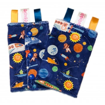 Outer Space Adventures Minky Drool Pad