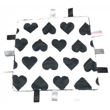 Black Hearts Minky Taggies