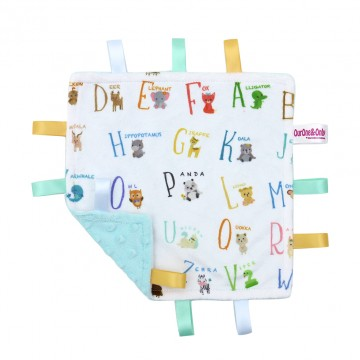 Alphabet Animals Minky Taggies