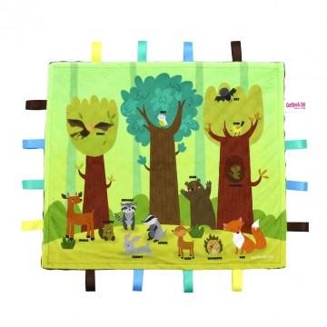 Woodlands Kingdom Minky Book Taggies