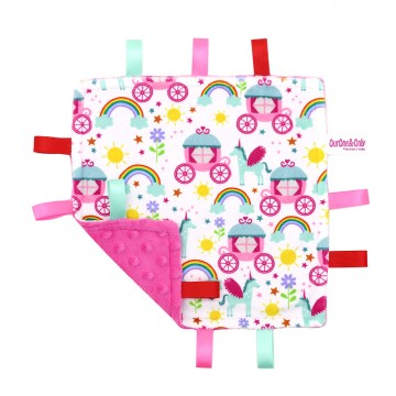 Princess Carriage Minky Taggies