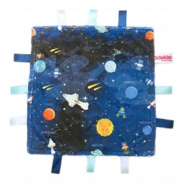 Galaxy Planets Minky Taggies