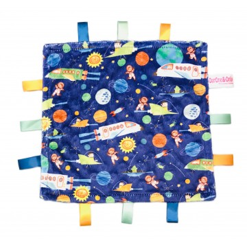 Outer Space Adventures Minky Taggies