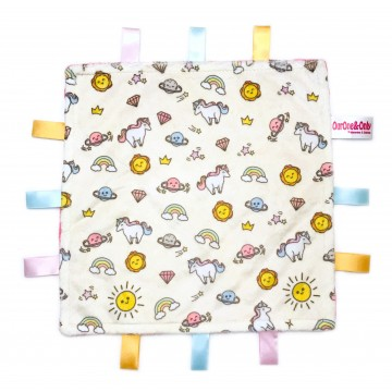 Sunshine Unicorn Minky Taggies