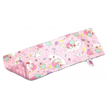 Little Twin Stars (Pink) Cotton Minky Long Pillow Case