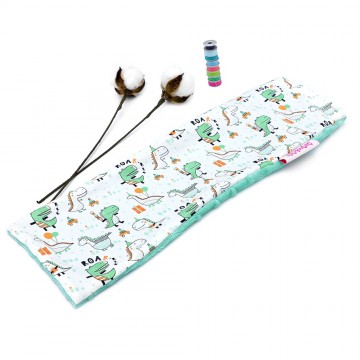 Party Dino Cotton Minky Long Pillow Case