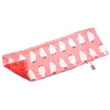Pink Penguin Cotton Minky Long Pillow Case