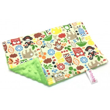 Animals Cotton Minky Short Pillow Case