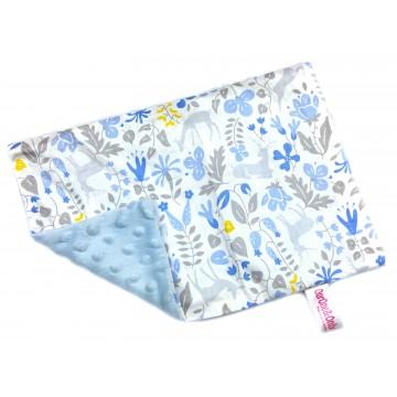 Blue Secret Forest Cotton Minky Short Pillow Case