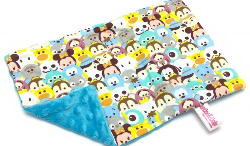 Blue Tsum Tsum Cotton Minky Short Pillow Case | OurOne&Only