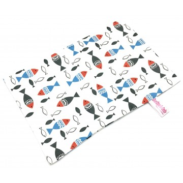 School Of Fishes Full Cotton Short Pillow Case