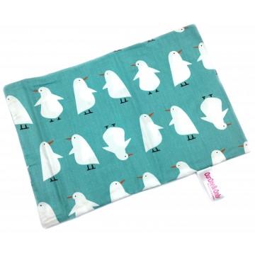 Teal Penguin Full Cotton Short Pillow Case
