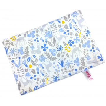 Blue Secret Forest Full Cotton Short Pillow Case