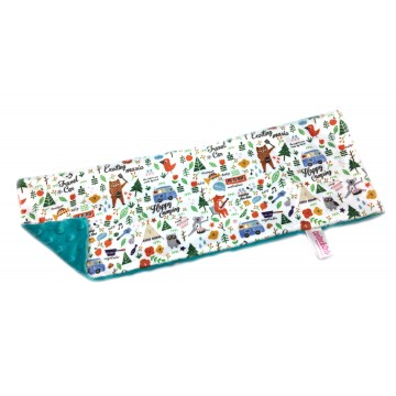Happy Camping Full Minky Long Pillow Case