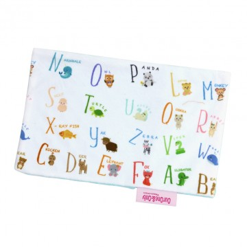 Alphabet Animals Full Minky Short Pillow Case
