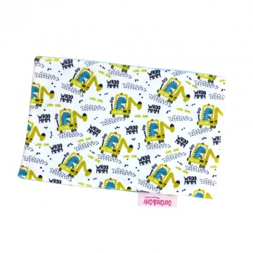 Dino At Work Full Minky Short Pillow Case