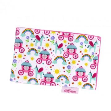 Princess Carriage Full Minky Short Pillow Case