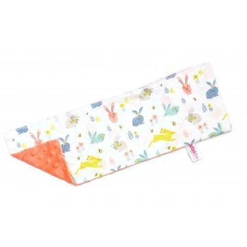 Hopping Bunnies Full Minky Long Pillow Case