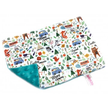 Happy Camping Full Minky Short Pillow Case